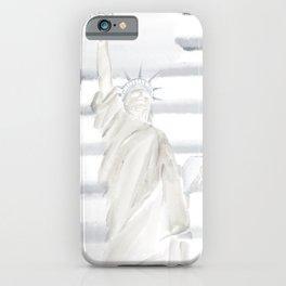 Lady Liberty • Americana Sepia iPhone Case