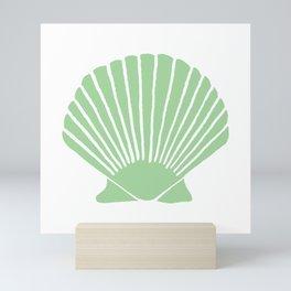Mint Seashell Mini Art Print