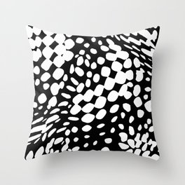 DOTS DOTS BLACK AND WHITE DOTS PATTERN Throw Pillow