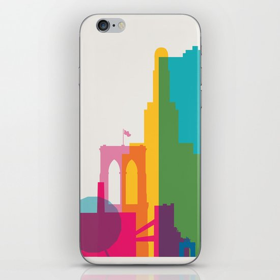 Shapes of Brooklyn. Accurate to scale iPhone & iPod Skin