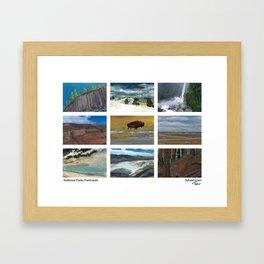 National Parks Postcards Framed Art Print