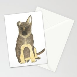 """""""Blue"""" the German Shepherd Dog (GSD) Puppy Stationery Cards"""