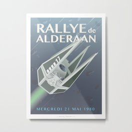 Tie Interceptor Rallye Metal Print