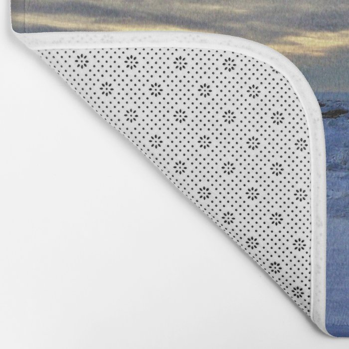 Icy Sea at Sunset Bath Mat
