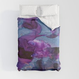 Vellum Watercolor Bliss 1 by Kathy Morton Stanion Comforters
