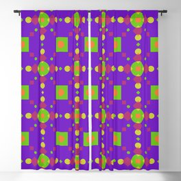 Neon Bus Seat Seamless Pattern Blackout Curtain