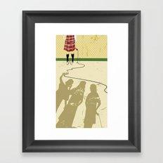 Bullied girl Framed Art Print