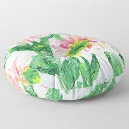 Dahlias on a cloudy day Floor Pillow