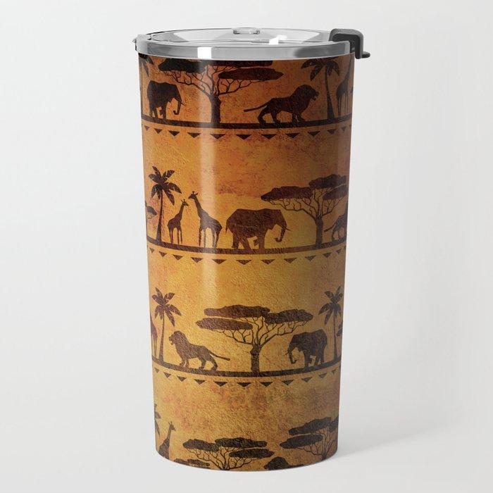 African Animal Pattern Travel Mug