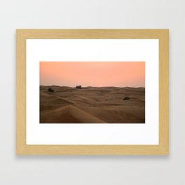 Arabian Desert Sunset Framed Art Print