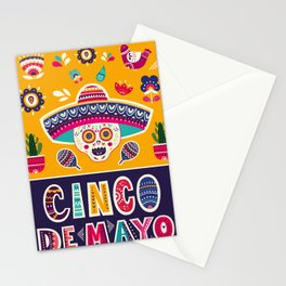 Cinco de Mayo – Scull Stationery Cards