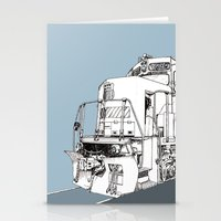 train Stationery Cards featuring Train  by Phillip Kauffman