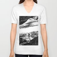 return V-neck T-shirts featuring Return to isolation planet by Stoian Hitrov - Sto