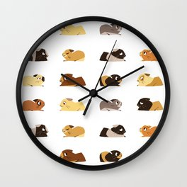 Guinea pigs Wall Clock