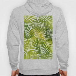 Palm leaf silhouettes seamless pattern. Tropical leaves. Hoody