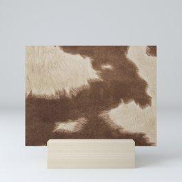 Cowhide Brown and White Mini Art Print