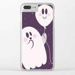 Pink Ghost and Friend Clear iPhone Case