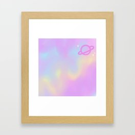 Pastel Space Framed Art Print