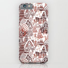 Gingerbread House Christmas village iPhone Case