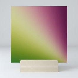 Gradient Colours: Green Purple Mini Art Print