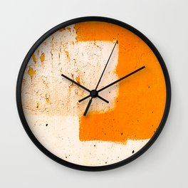 Stonewall in Pale Vermilion and Peach Wall Clock