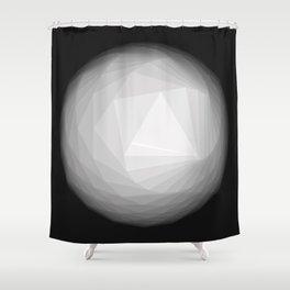 A Geometric Moon Shower Curtain