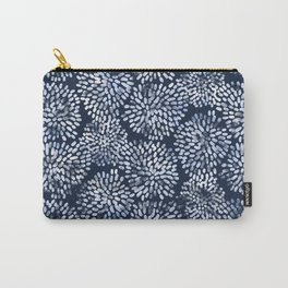 Abstract Navy Watercolor Line Flowers Carry-All Pouch
