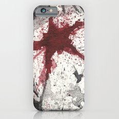 RED STAR - WATERCOLOR SPLATTER ART Slim Case iPhone 6s