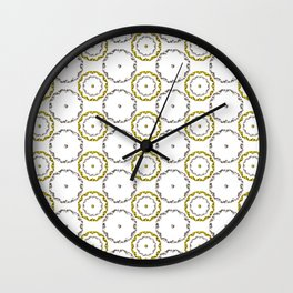 Gold and Silver Rings Polka Dot Pattern Wall Clock