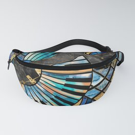 Abstract Guitar and Keys Art Collage Mixed Textures Fanny Pack