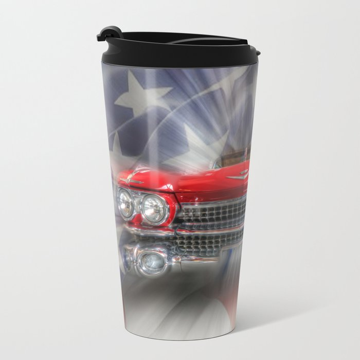 Red White and Blue Caddy Travel Mug