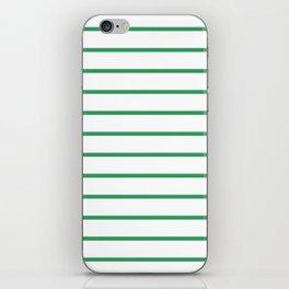 Kelly Green Breton Stripes iPhone Skin