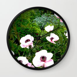 Popping poppies Wall Clock