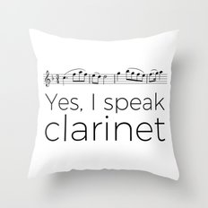 Do you speak clarinet? Throw Pillow