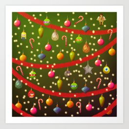 Look at these Christmas decorations! Art Print