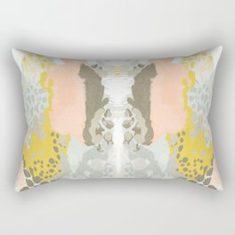 Upton - Abstract painting perfect for dorm room phone case abstract art and feminine abstract art Rectangular Pillow