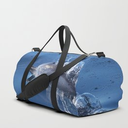 Dolphins and bubbles Duffle Bag