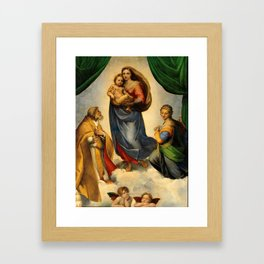 Sistine Madonna with Child and Angels Virgin Mary Religion Catholic Gift Framed Art Print