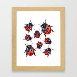 Lucky Ladybird  Beetles Framed Art Print