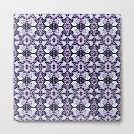 Violet  Roses Seamless Pattern Metal Print