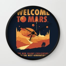 Welcome to Mars Wall Clock