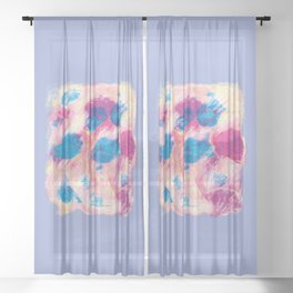 Colours of summer 1 -Abstract pattern Sheer Curtain