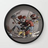 mario kart Wall Clocks featuring Death Kart by Calakka