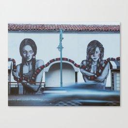 snake girl mural Canvas Print