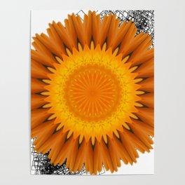 Marigold abstracted to a mandala Poster