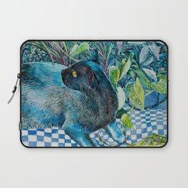 Who Me? Naughty Black Cat amongst Indoor Plants Laptop Sleeve