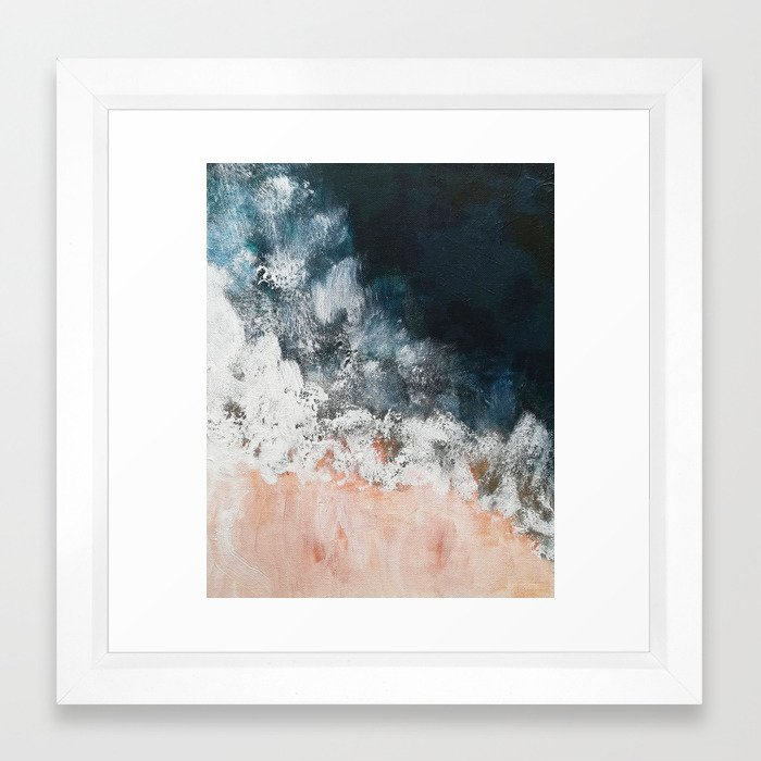 Aerial ocean, coast, beach, waves, sea, prints, project Framed Art ...