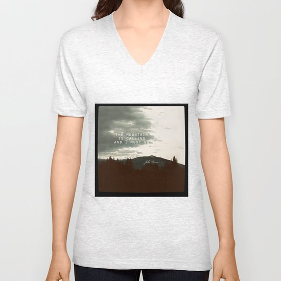 The Mountain is Calling Unisex V-Neck