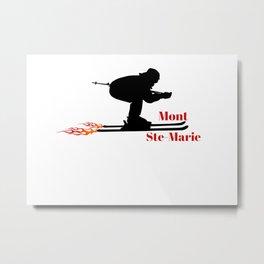 Ski speeding at Mont Ste-Marie (Mont Ste-Marie) Metal Print