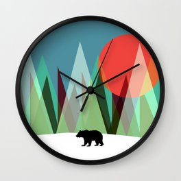 Bear Alone Wall Clock
